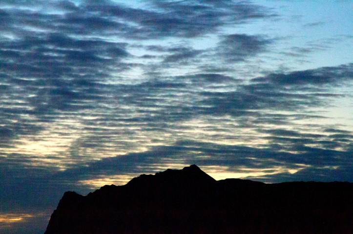 Sun set silhouette